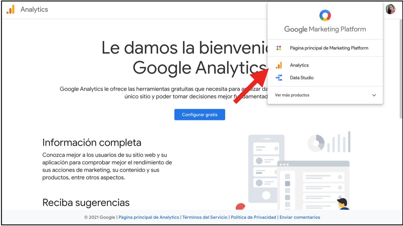 Google Analytics con tarjeta id 01