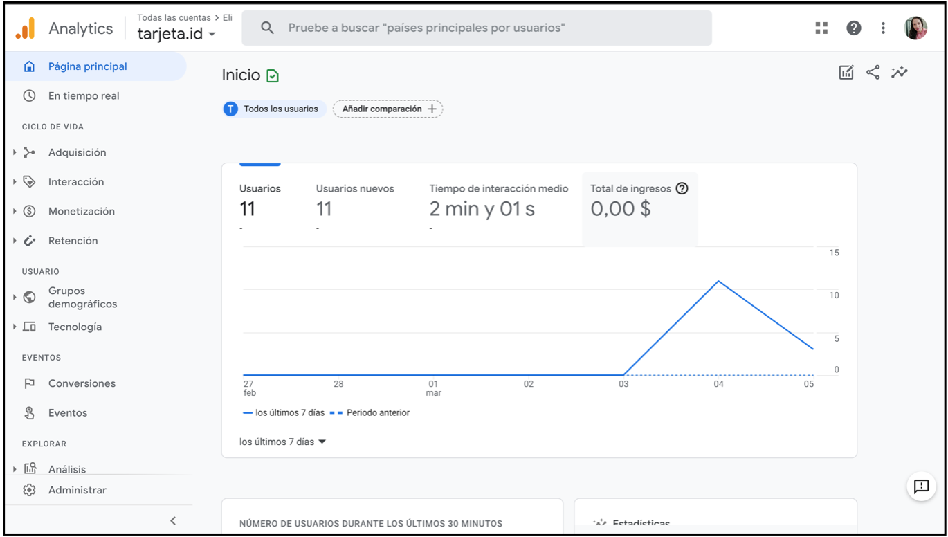 Sincroniza tu tarjeta id con Google Analytics 2
