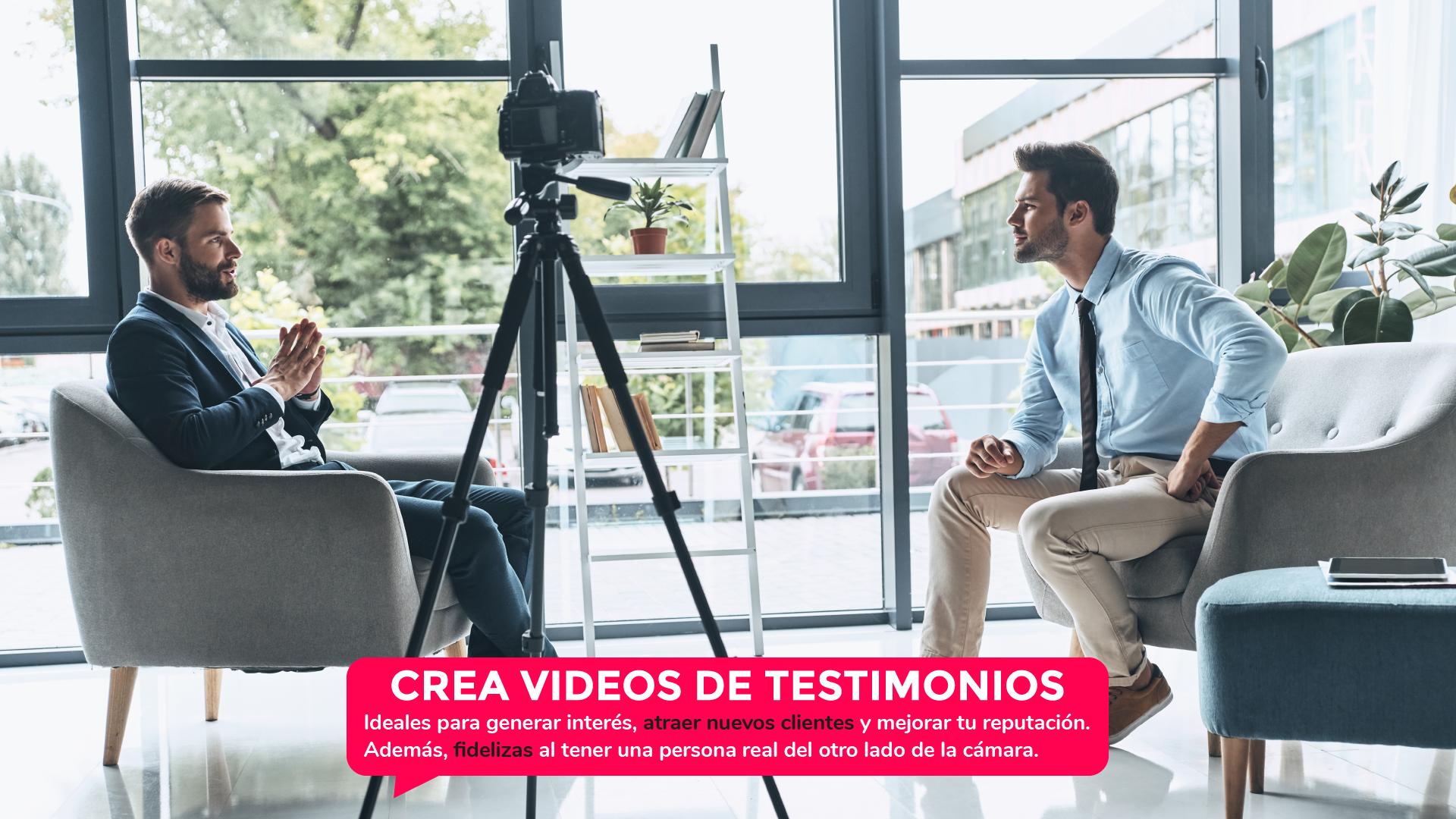 crea videos de testimonios